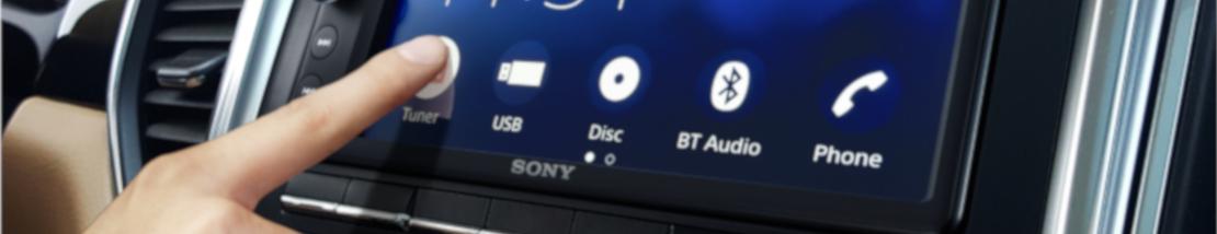 SONY XAV-AX200  - Radioodtwarzacz samochodowy DVD z ekranem 16,3 CM (6,4˝) i łączem BLUETOOTH® oraz Android Auto